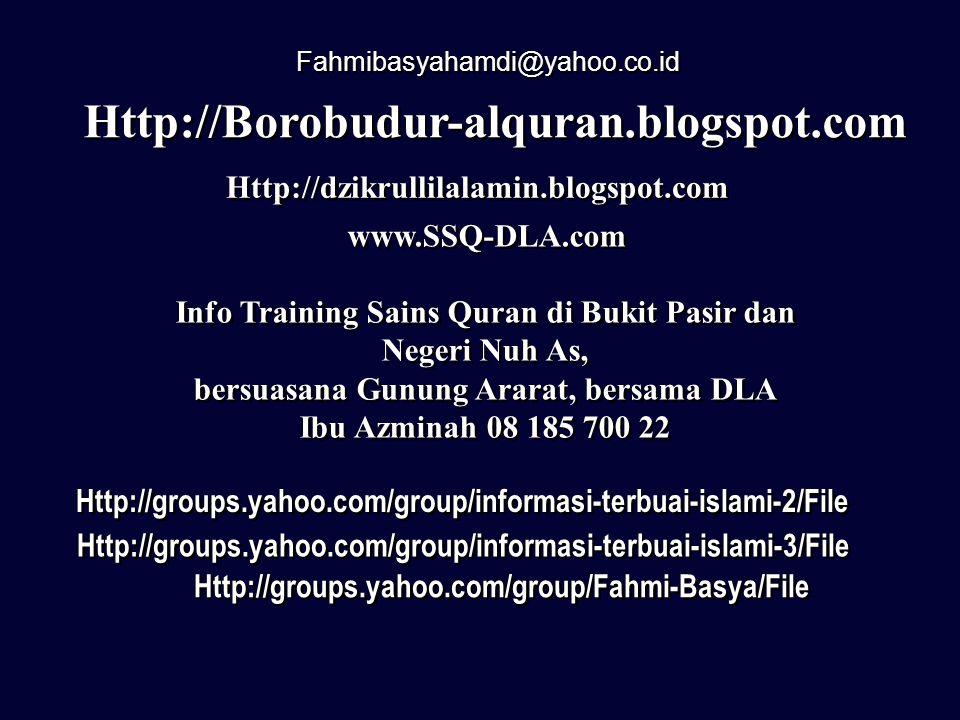 Fahmibasyahamdi@yahoo.co.id Http://Borobudur-alquran.blogspot.com. Http://dzikrullilalamin.blogspot.com.