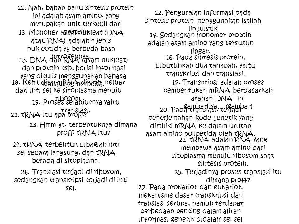 14. Sedangkan monomer protein adalah asam amino yang tersusun linear.
