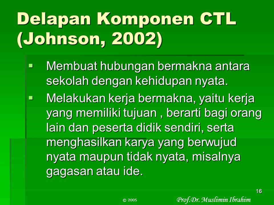 Delapan Komponen CTL (Johnson, 2002)