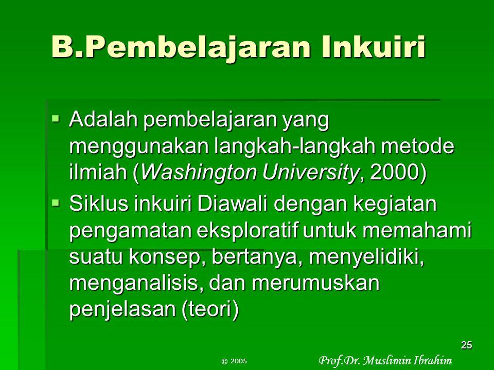B.Pembelajaran Inkuiri