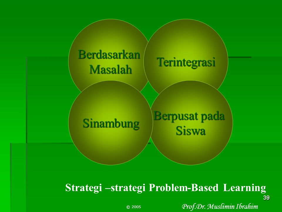 Strategi –strategi Problem-Based Learning