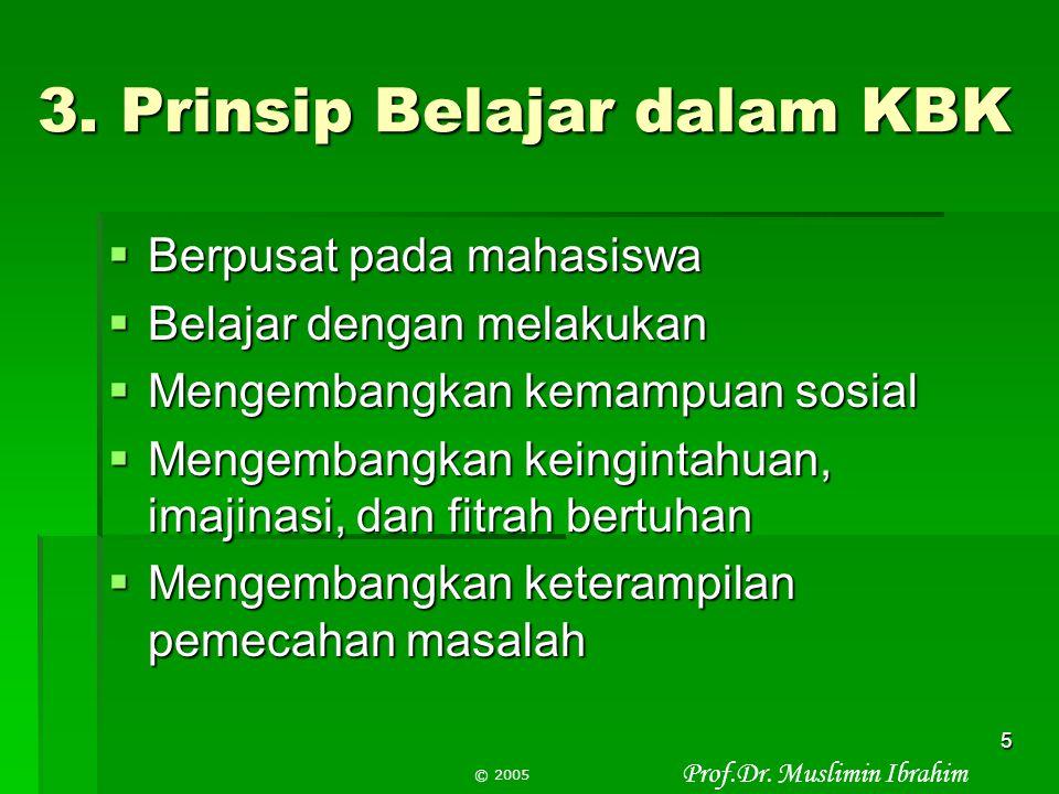 3. Prinsip Belajar dalam KBK