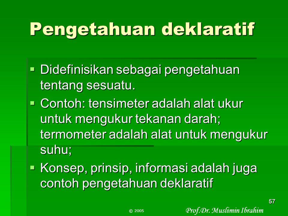 Pengetahuan deklaratif