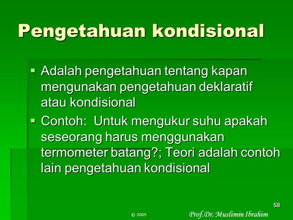 Pengetahuan kondisional