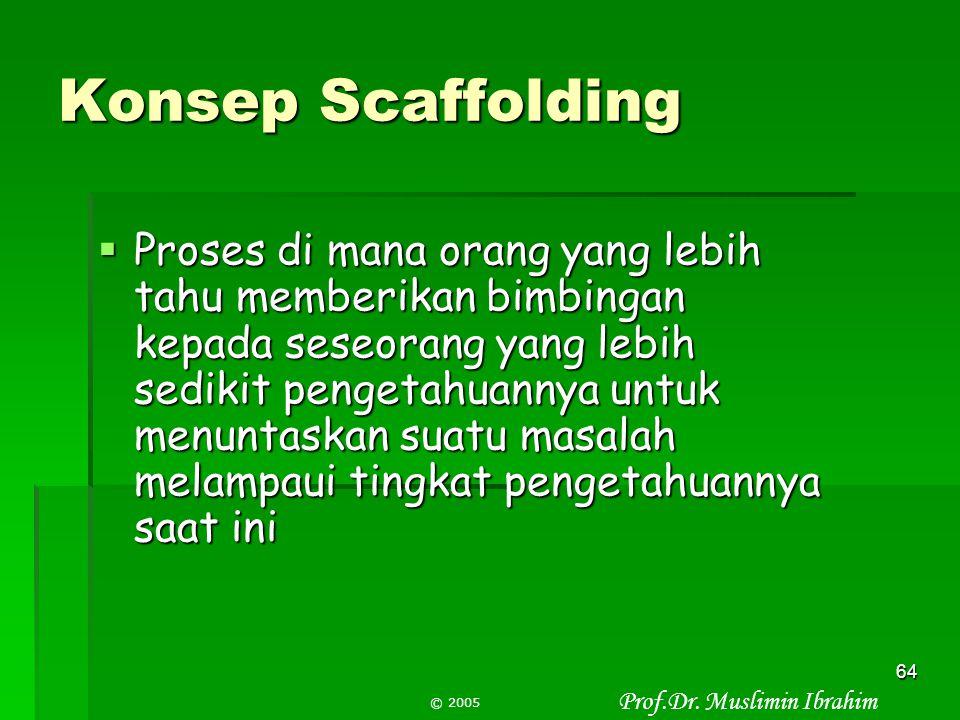 Konsep Scaffolding