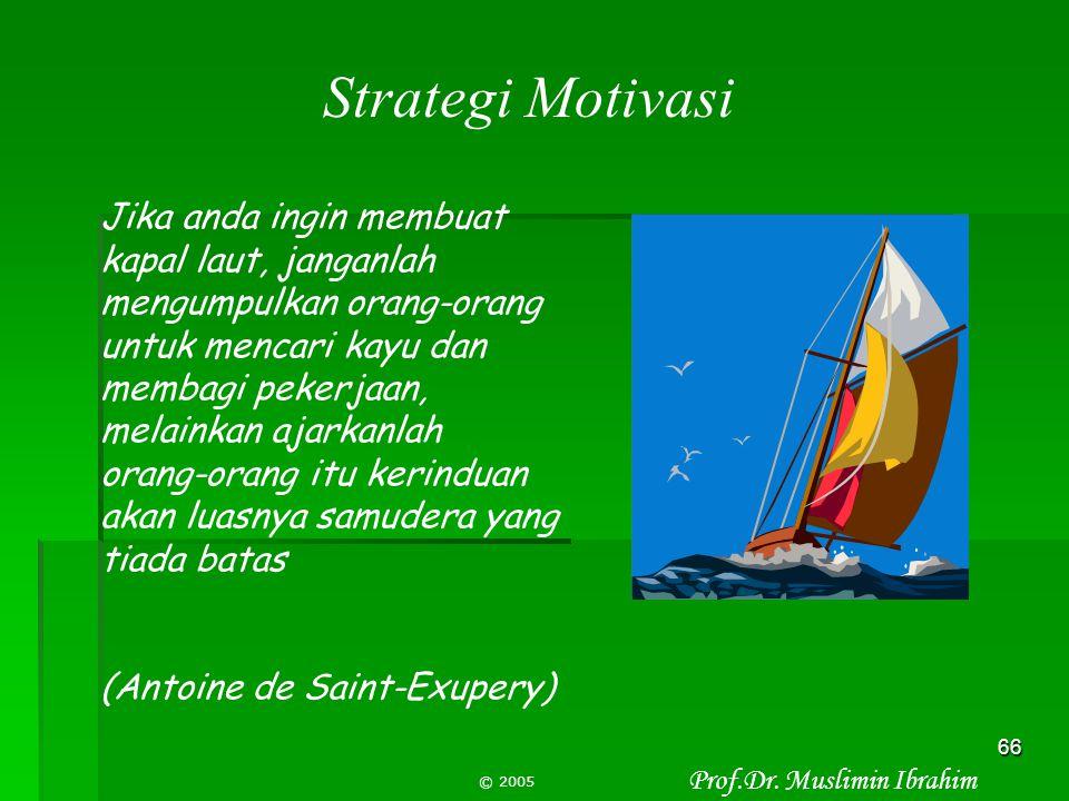Strategi Motivasi