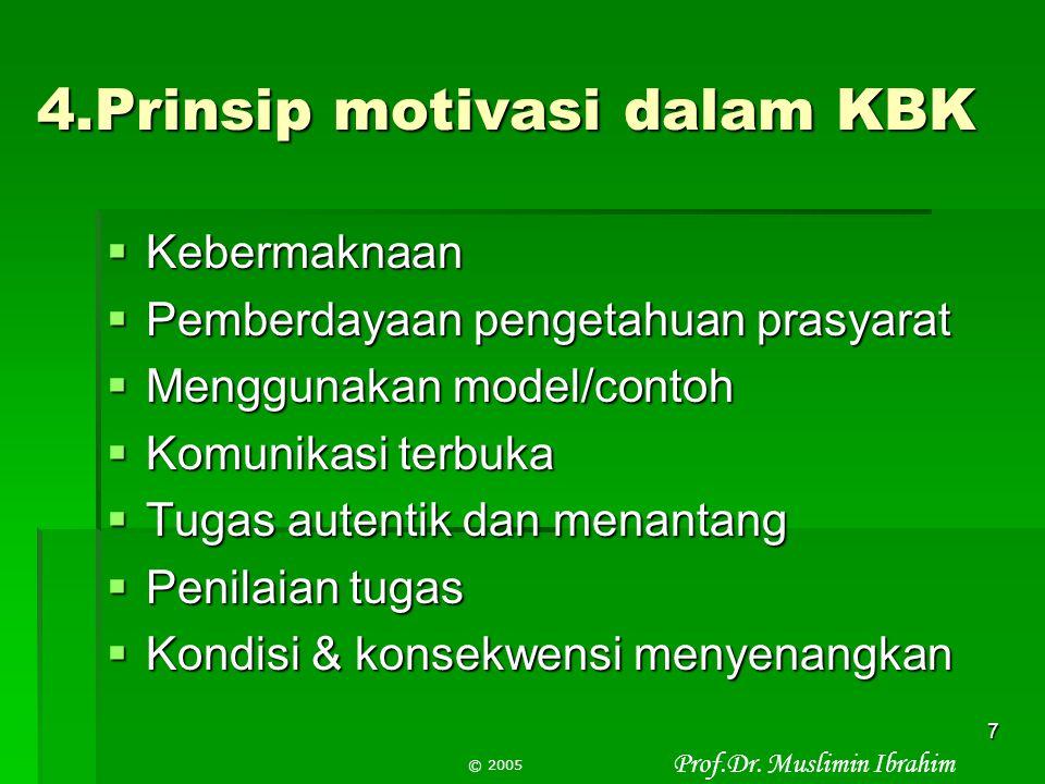 4.Prinsip motivasi dalam KBK