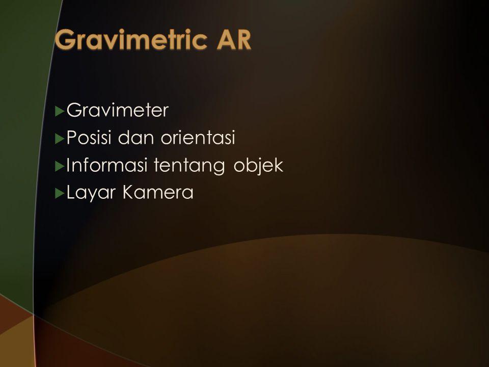 Gravimetric AR Gravimeter Posisi dan orientasi Informasi tentang objek