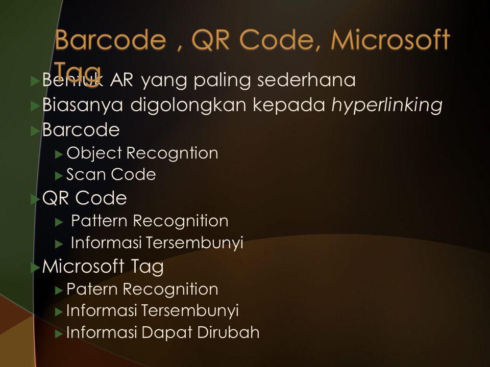 Barcode , QR Code, Microsoft Tag
