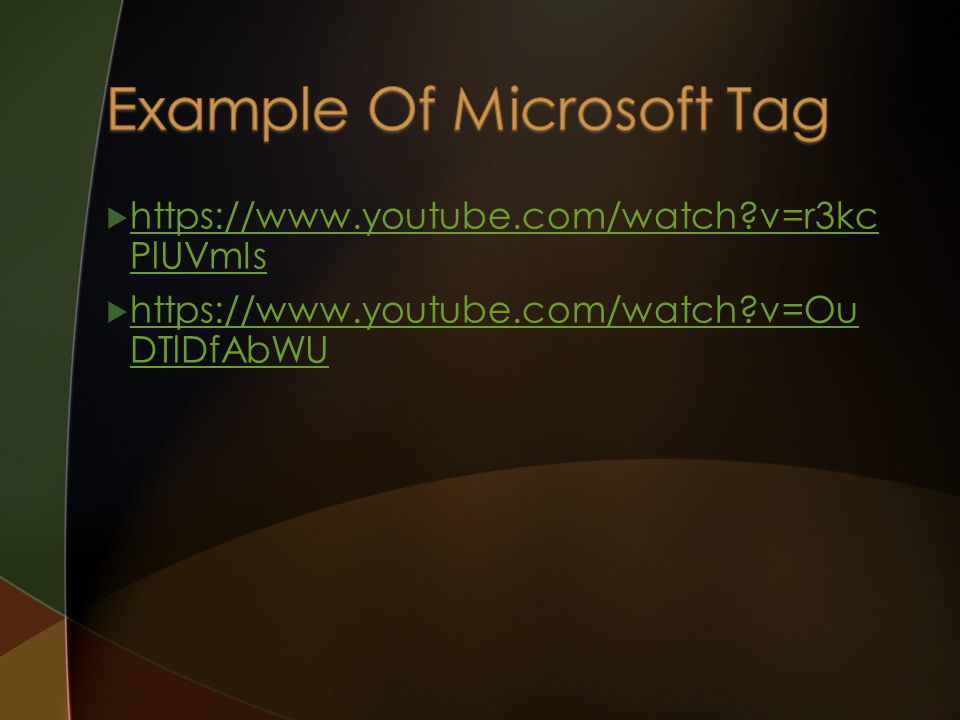 Example Of Microsoft Tag