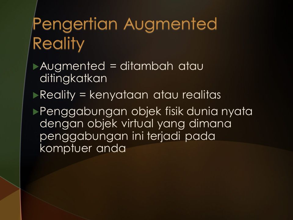 Pengertian Augmented Reality