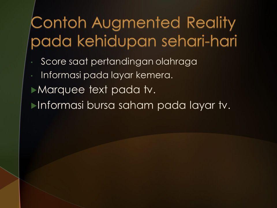 Contoh Augmented Reality pada kehidupan sehari-hari