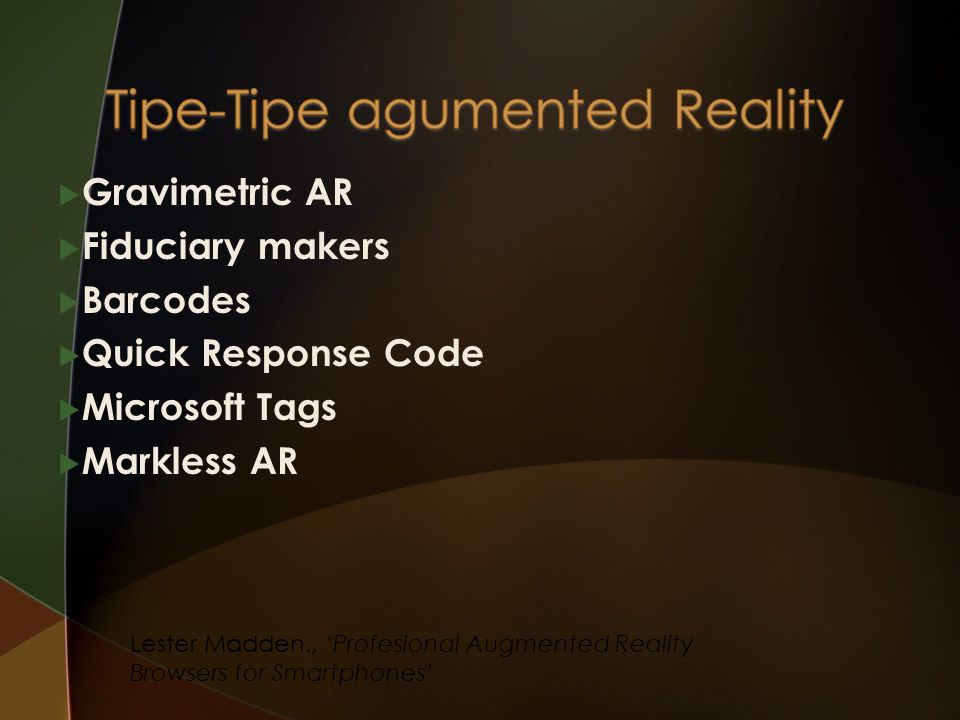 Tipe-Tipe agumented Reality