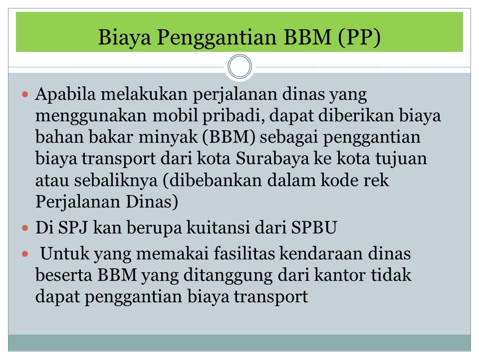 Biaya Penggantian BBM (PP)