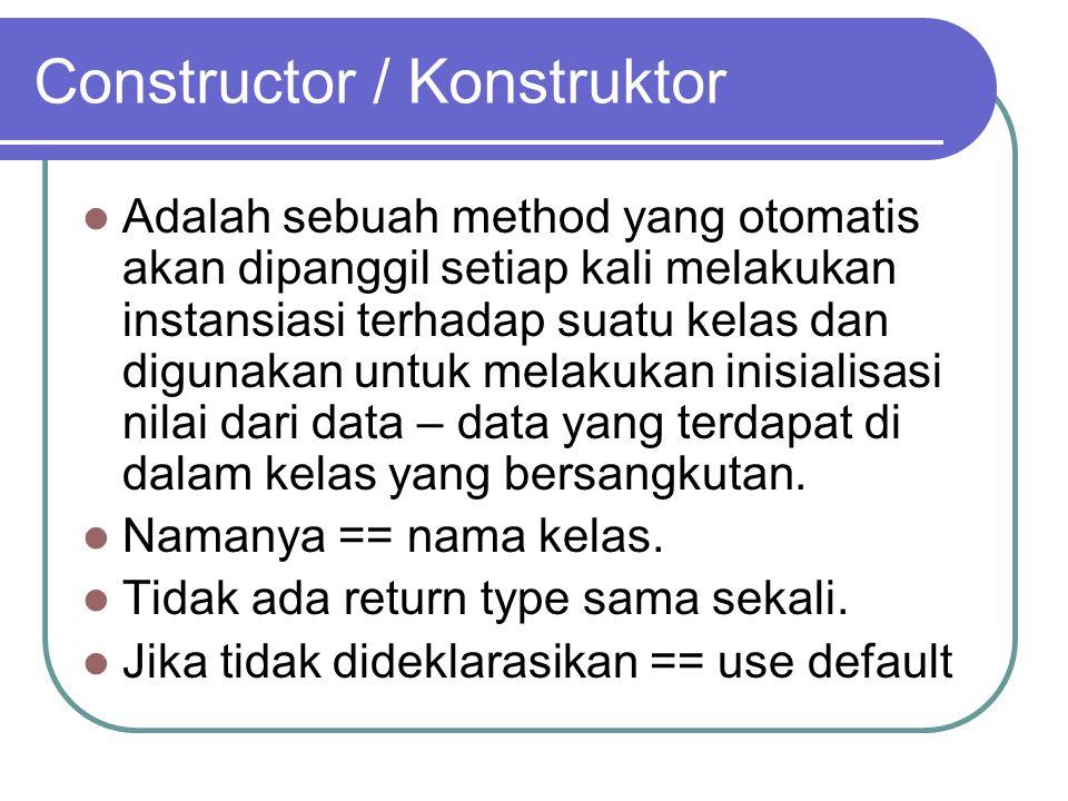Constructor / Konstruktor