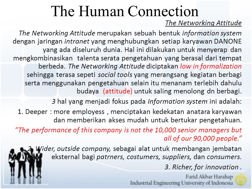 The Human Connection The Networking Attitude