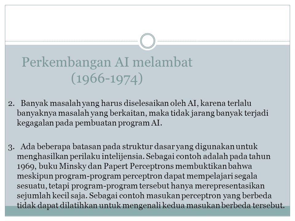 Perkembangan AI melambat (1966-1974)