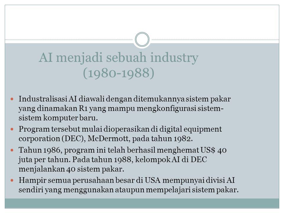 AI menjadi sebuah industry (1980-1988)