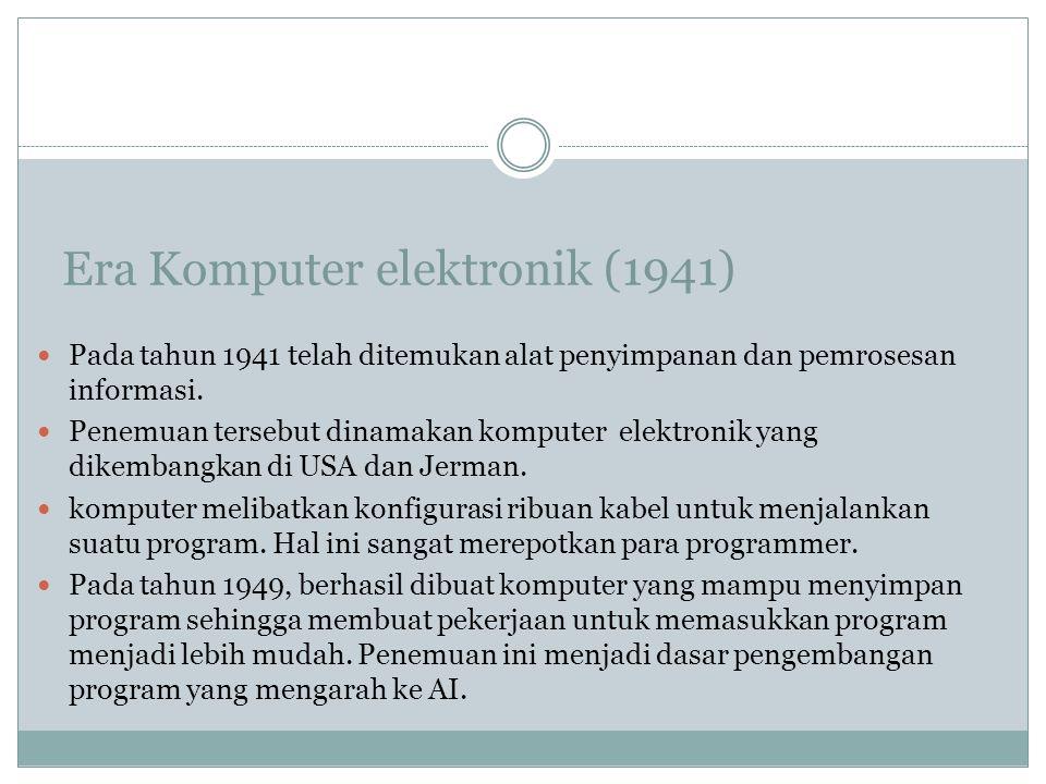 Era Komputer elektronik (1941)