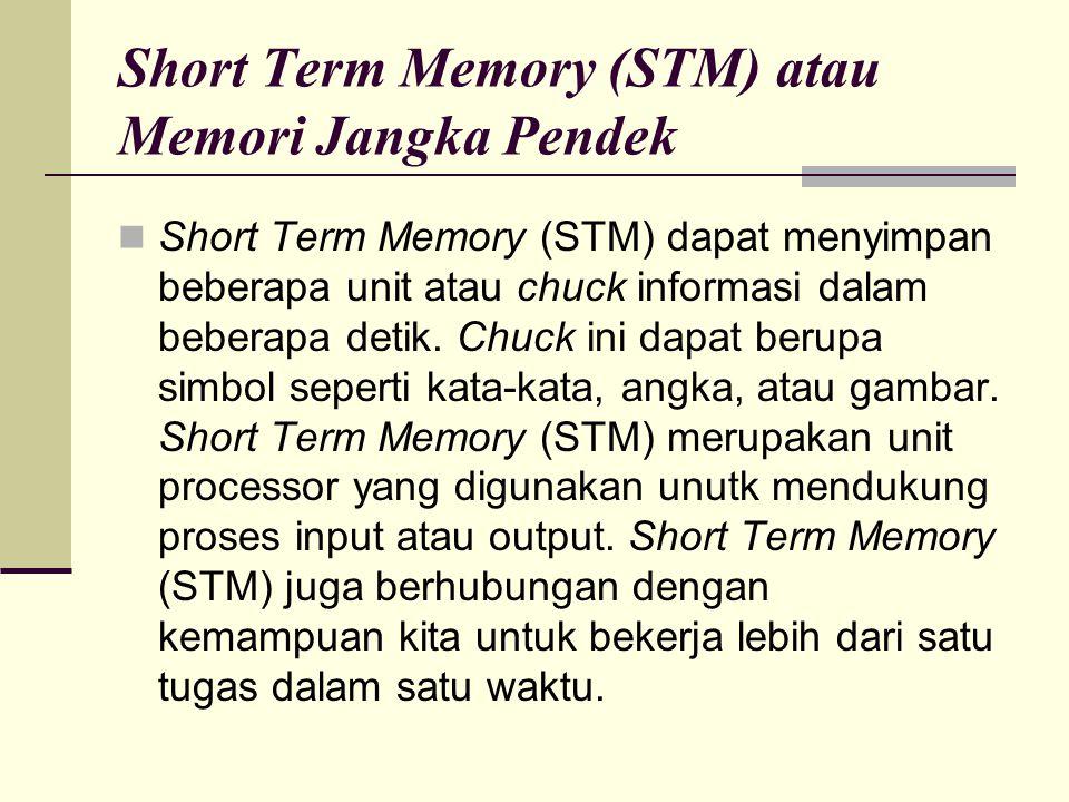Short Term Memory (STM) atau Memori Jangka Pendek