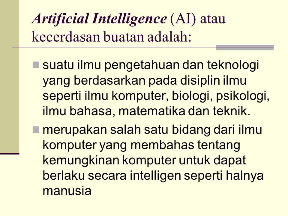 Artificial Intelligence (AI) atau kecerdasan buatan adalah: