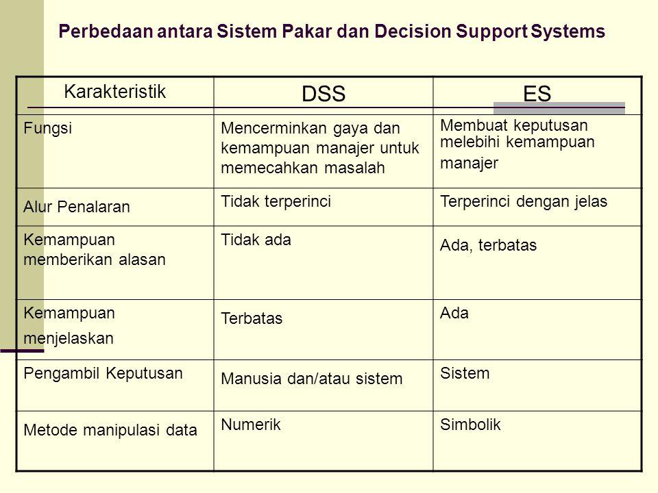 Perbedaan antara Sistem Pakar dan Decision Support Systems