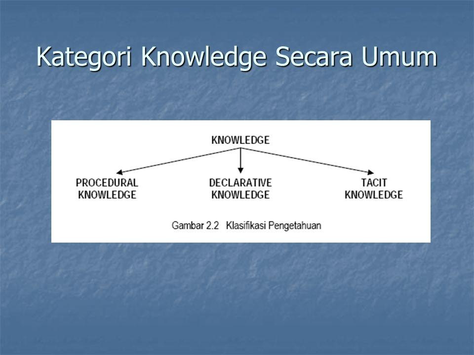 Kategori Knowledge Secara Umum