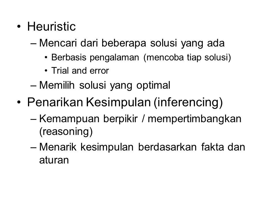 Penarikan Kesimpulan (inferencing)