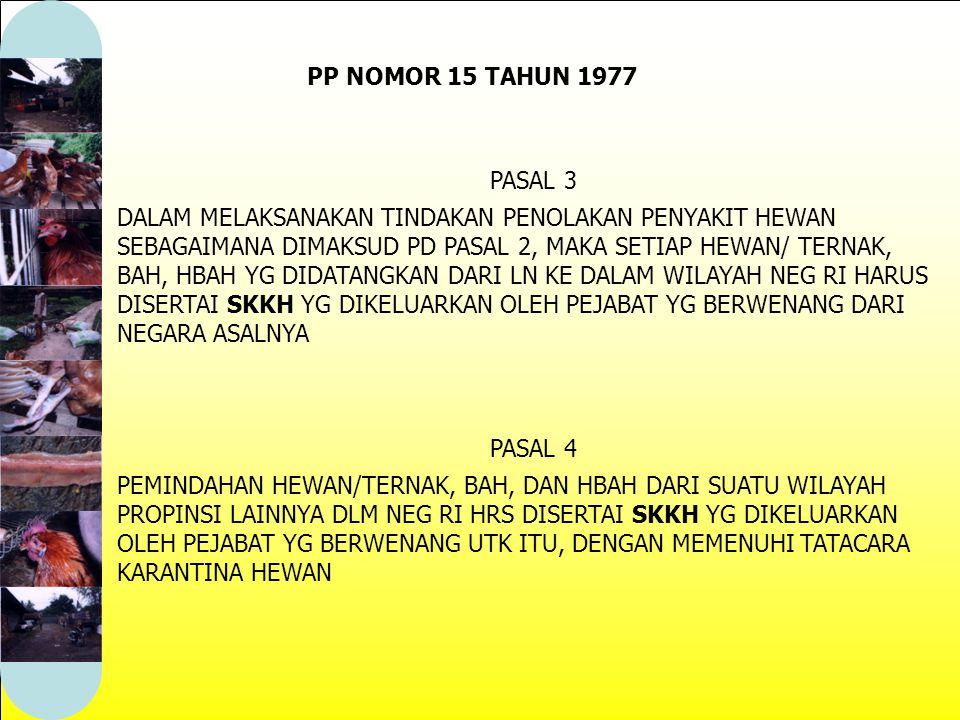 PP NOMOR 15 TAHUN 1977 PASAL 3.