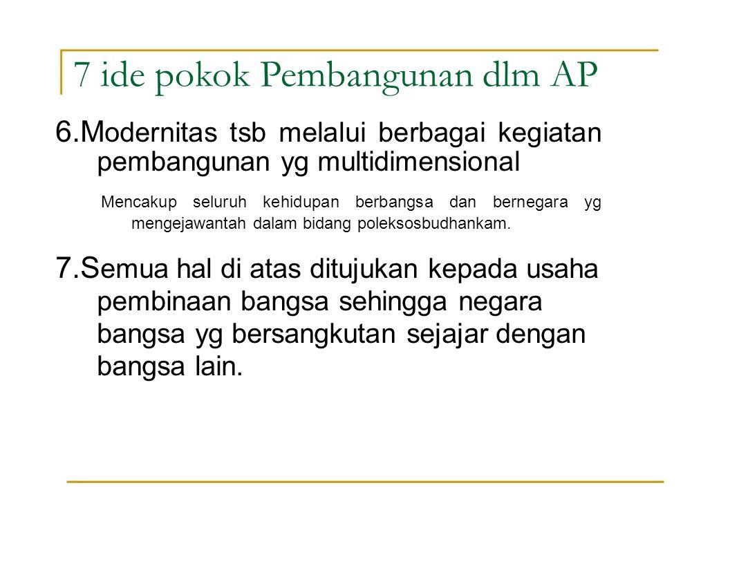 7 ide pokok Pembangunan dlm AP