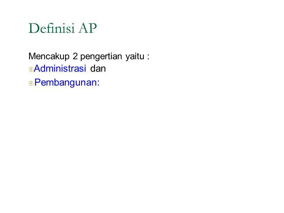 """Definisi AP Mencakup 2 pengertian yaitu : """" Administrasi dan"""