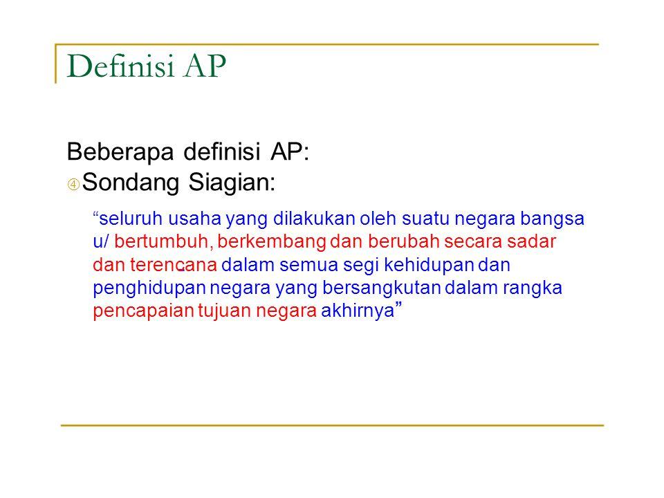 """Definisi AP Beberapa definisi AP: """" Sondang Siagian:"""