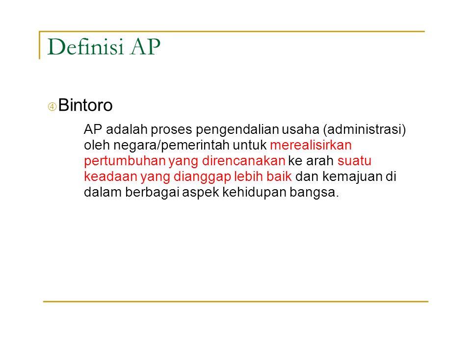"Definisi AP "" Bintoro."