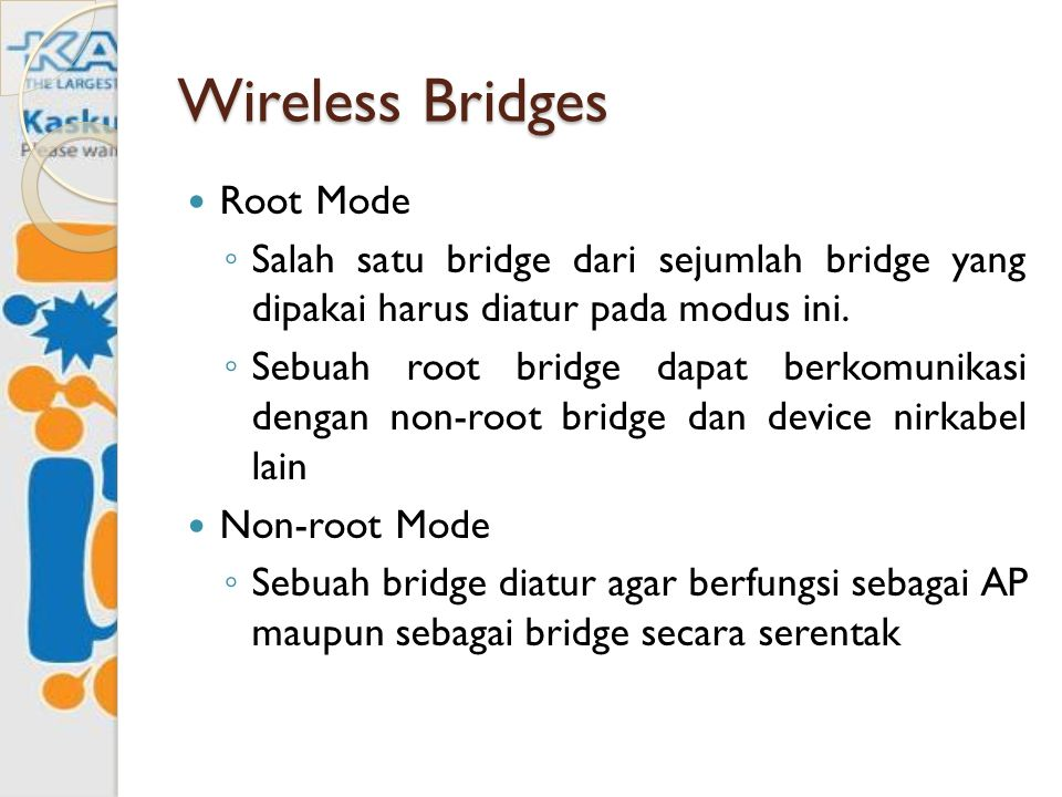 Wireless Bridges Root Mode