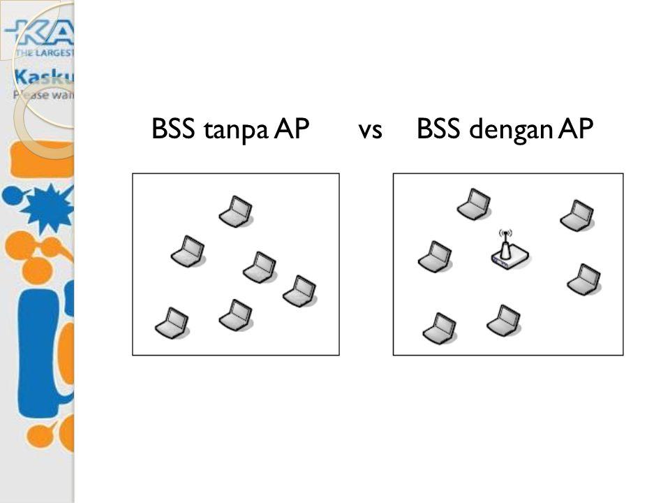 BSS tanpa AP vs BSS dengan AP