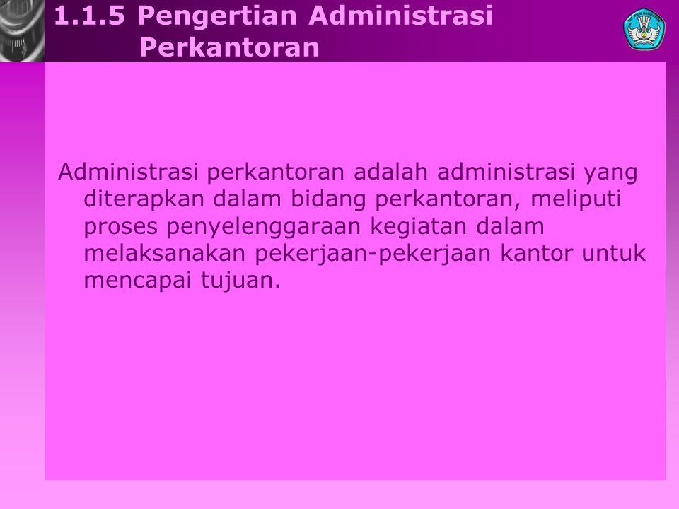 1.1.5 Pengertian Administrasi Perkantoran
