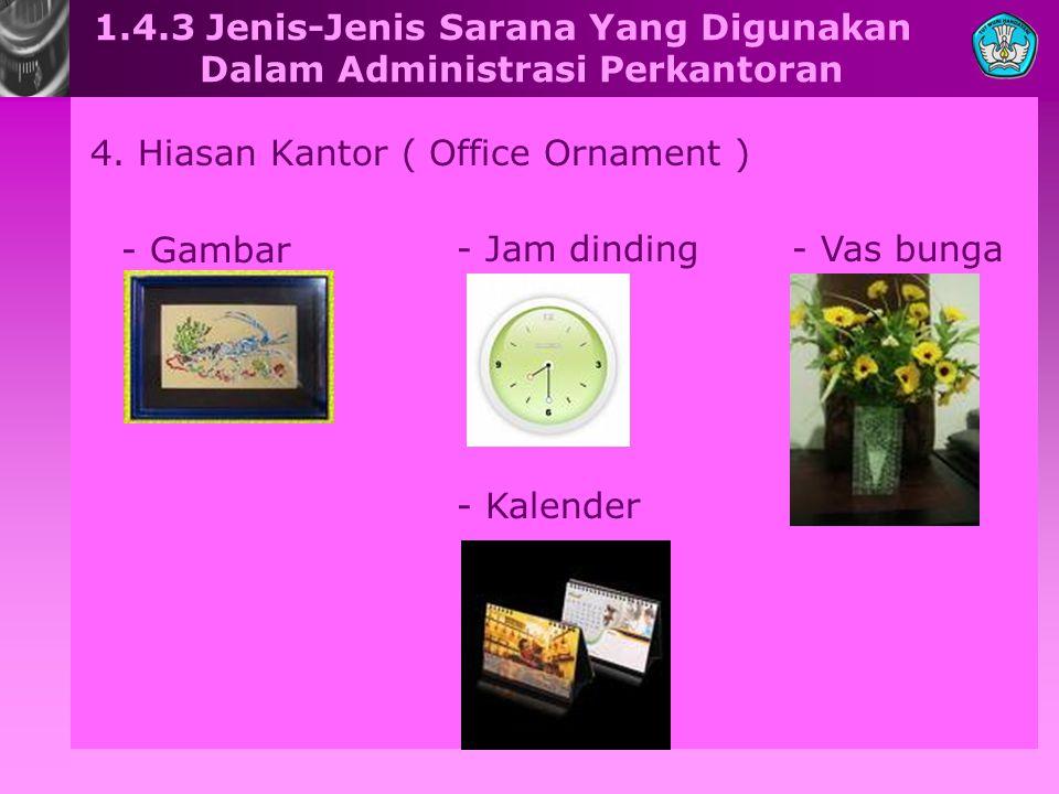 1.4.3 Jenis-Jenis Sarana Yang Digunakan Dalam Administrasi Perkantoran