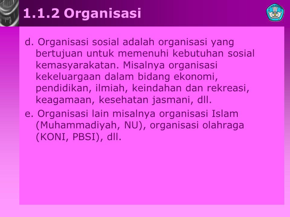 1.1.2 Organisasi