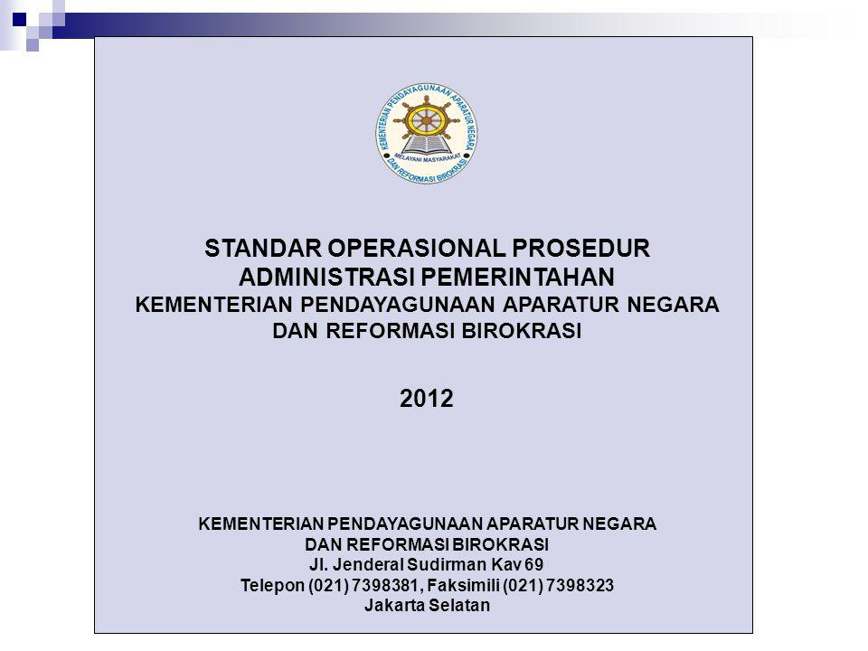 STANDAR OPERASIONAL PROSEDUR ADMINISTRASI PEMERINTAHAN