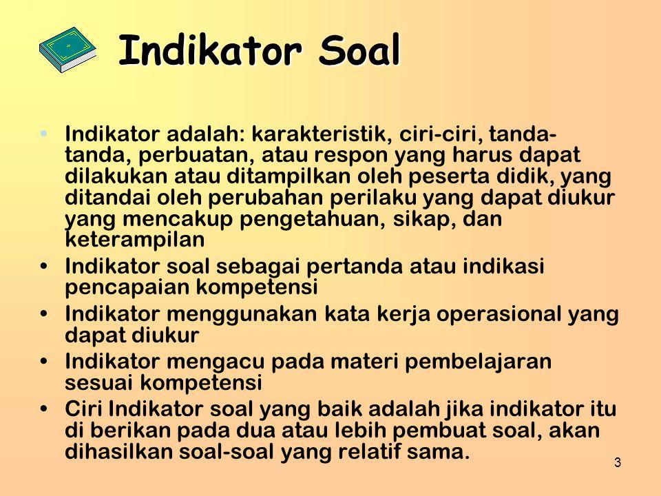 Indikator Soal