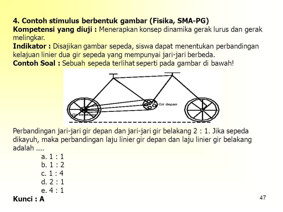 4. Contoh stimulus berbentuk gambar (Fisika, SMA-PG)