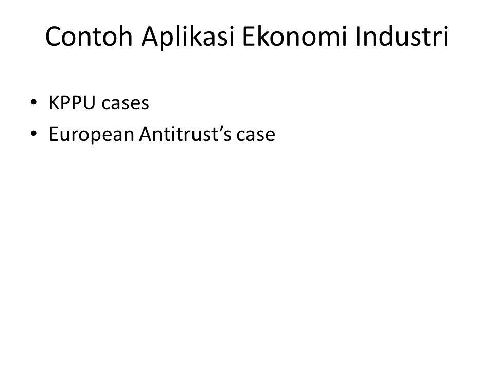 Contoh Aplikasi Ekonomi Industri