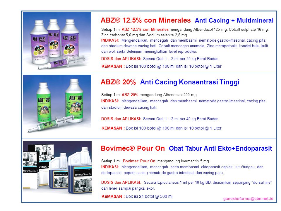 ABZ® 12.5% con Minerales Anti Cacing + Multimineral