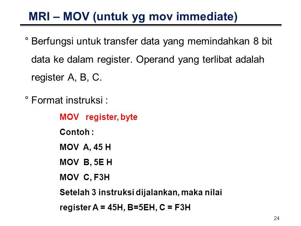 MRI – MOV (untuk yg mov immediate)