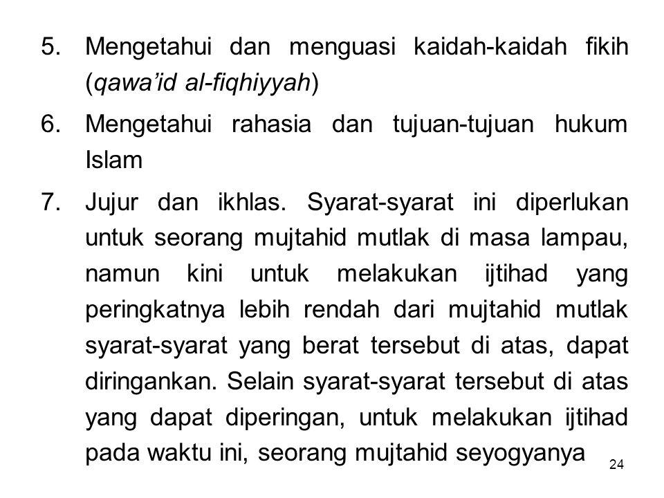 Mengetahui dan menguasi kaidah-kaidah fikih (qawa'id al-fiqhiyyah)
