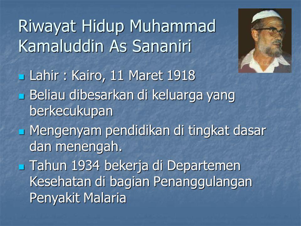 Riwayat Hidup Muhammad Kamaluddin As Sananiri