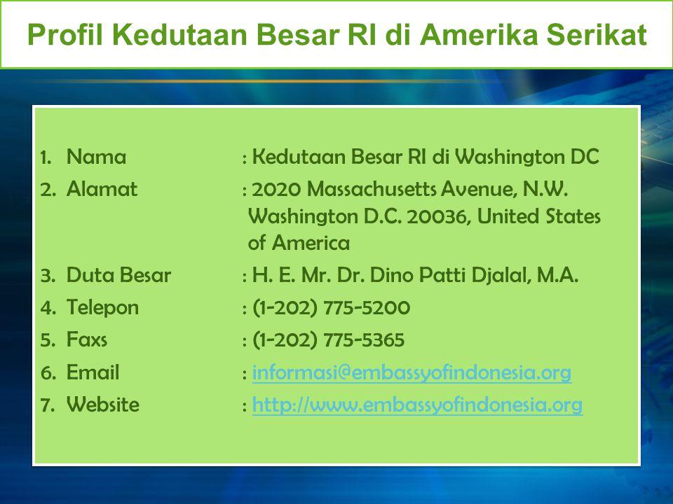 Profil Kedutaan Besar RI di Amerika Serikat