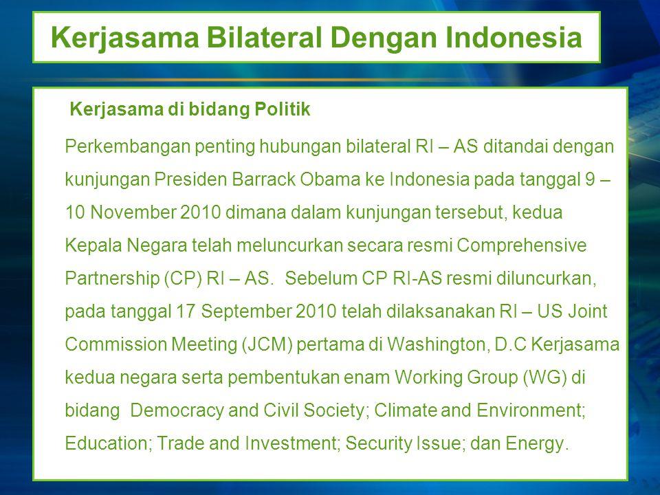 Kerjasama Bilateral Dengan Indonesia