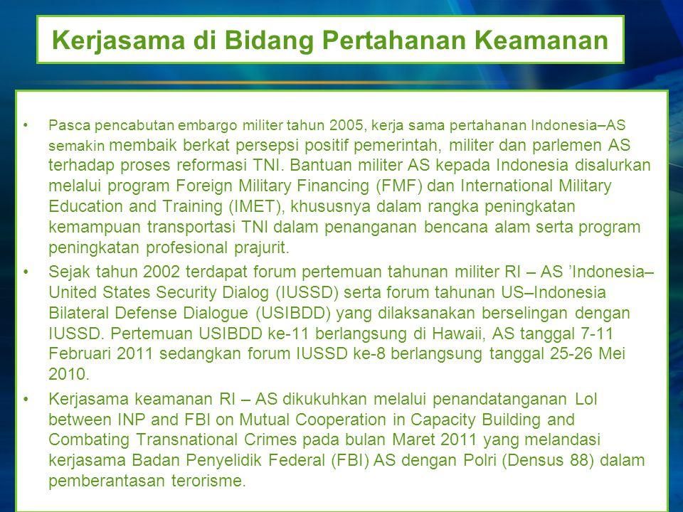 Kerjasama di Bidang Pertahanan Keamanan