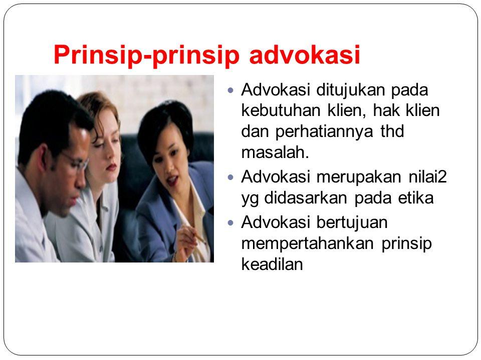 Prinsip-prinsip advokasi